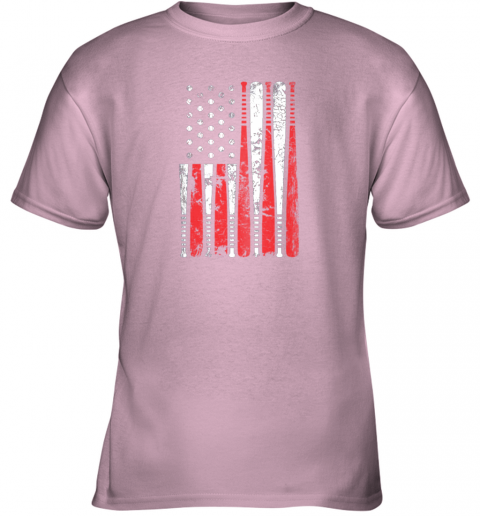 k68p vintage baseball bat american usa flag gift youth t shirt 26 front light pink