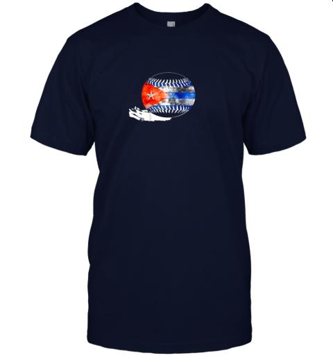 pht6 vintage baseball cuba flag shirt cuban pride jersey t shirt 60 front navy