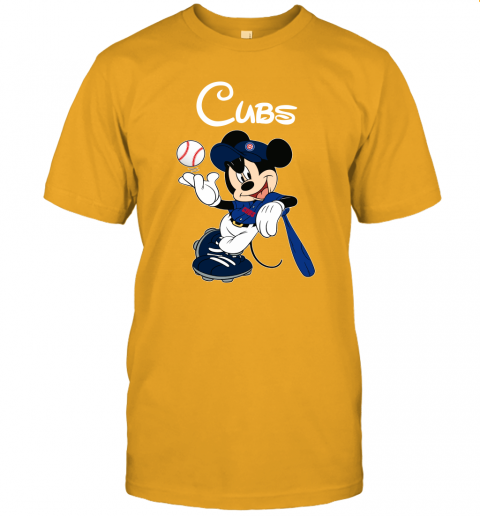 rfap baseball mickey team chicago cubs jersey t shirt 60 front gold