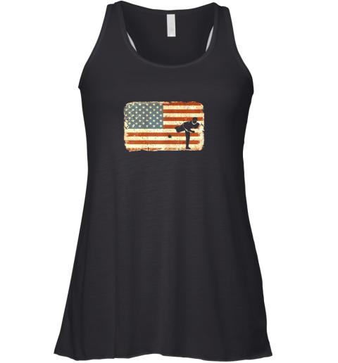 Vintage Baseball Pitcher Shirt American Flag Racerback Tank