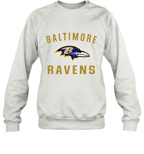 403m mens baltimore ravens nfl pro line by fanatics branded gray victory arch t shirt sweatshirt 35 front white