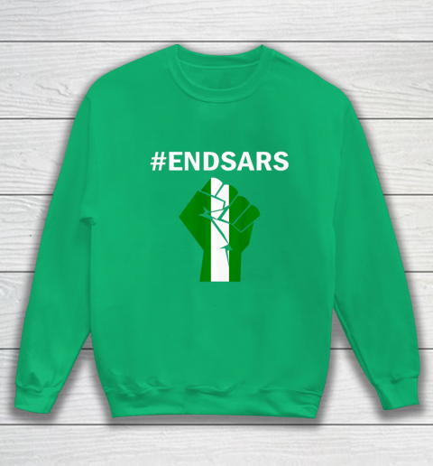 EndSARS End SARS Nigeria Flag Colors Strong Fist Protest Sweatshirt 5