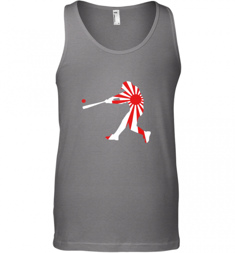 slqe japan baseball shirt jpn batter classic nippon flag jersey unisex tank 17 front graphite heather