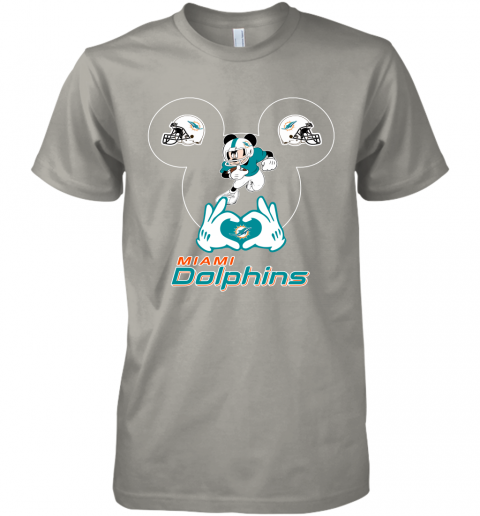 gqrj i love the dolphins mickey mouse miami dolphins premium guys tee 5 front light grey