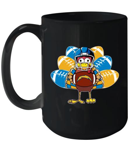 Los Angeles Chargers  Thanksgiving Turkey Football NFL Ceramic Mug 15oz