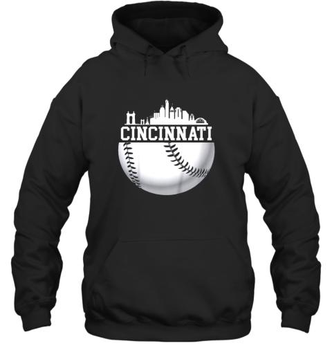 Vintage Downtown Cincinnati Shirt Baseball Retro Ohio State Hoodie
