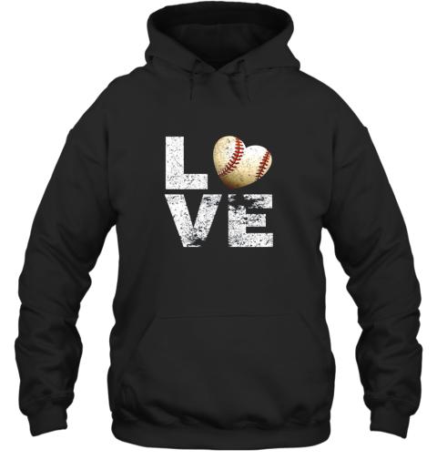 I Love Baseball Funny Gift for Baseball Fans Lovers Hoodie