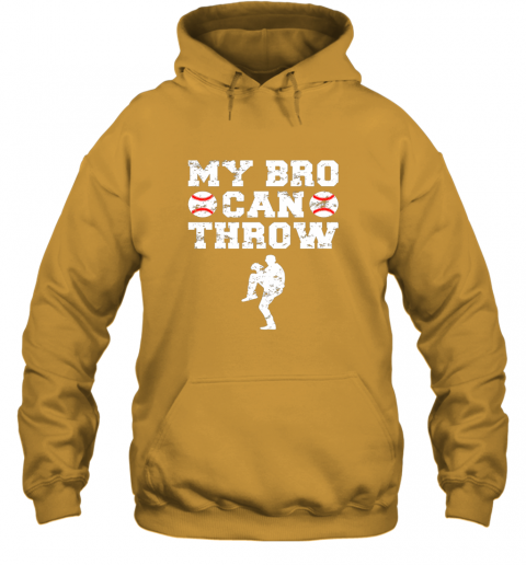 57ly kids cute baseball brother sister funny shirt cool gift pitcher hoodie 23 front gold