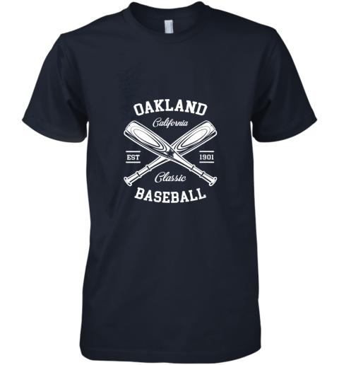 w20e oakland baseball classic vintage california retro fans gift premium guys tee 5 front midnight navy