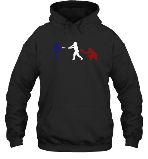 Baseball USA Flag American Tradition Spirit Hoodie