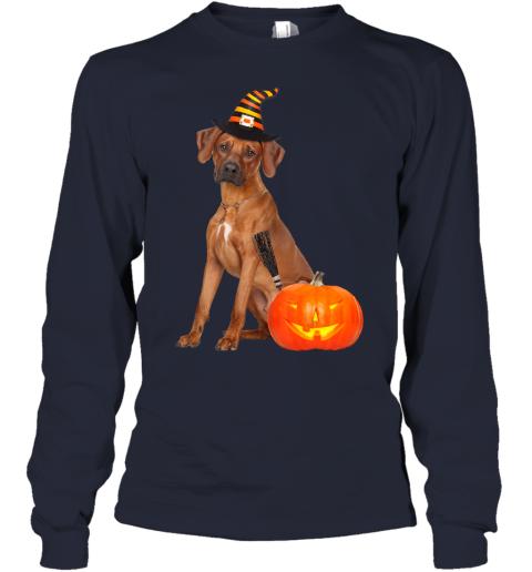 Rhodesian Ridgeback Witch Hat Halloween Dog Costume Youth Long Sleeve