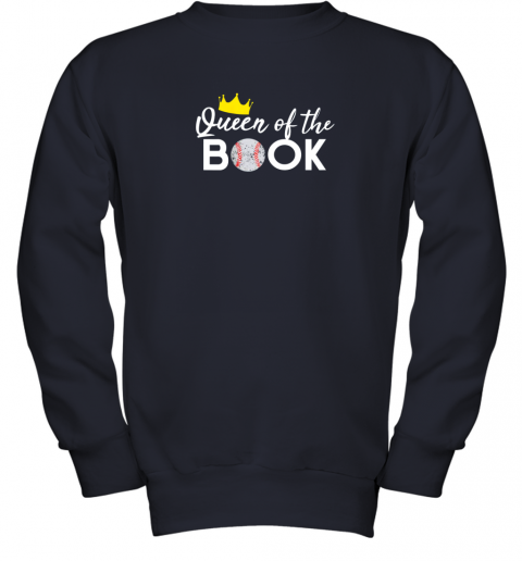 hoy3 scorekeeper baseball team scorebook queen youth sweatshirt 47 front navy