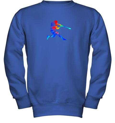 c7yp tie dye baseball batter shirt retro player coach boys gifts youth sweatshirt 47 front royal