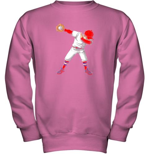 nlps dabbing baseball t shirt funny dab dance shirts boys girls youth sweatshirt 47 front safety pink