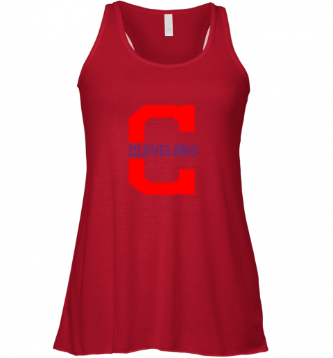 mzcq cleveland hometown indian tribe vintage for mlb fans flowy tank 32 front red