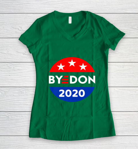 ByeDon 2020 Bye Don Anti Trump Vote Joe Biden Women's V-Neck T-Shirt 3
