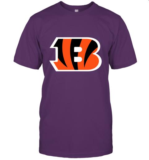 6sdv cincinnati bengals nfl line gray victory jersey t shirt 60 front team purple