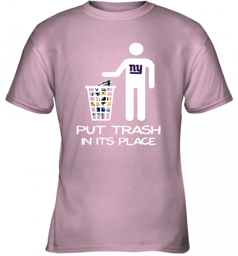 New York Giants Put Trash In Its Place Funny NFL Youth T-Shirt