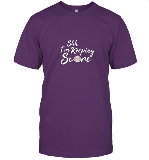 jzxi scorekeeper baseball team scorebook keeper jersey t shirt 60 front team purple