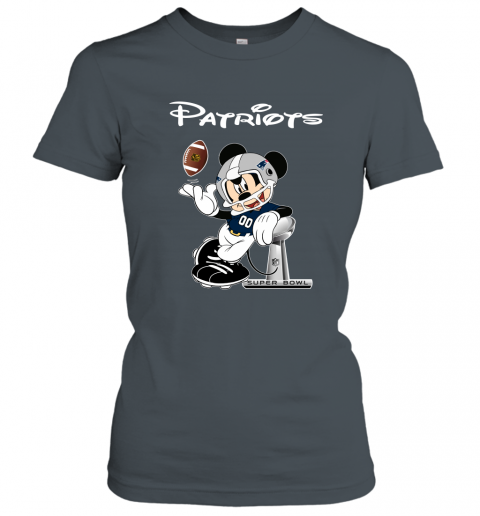 txtn mickey patriots taking the super bowl trophy football ladies t shirt 20 front dark heather