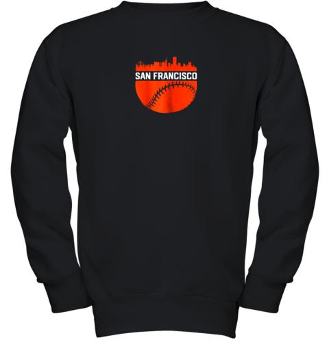 Vintage Downtown San Francisco Cali Skyline Baseball Youth Sweatshirt