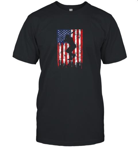 Vintage Patriotic American Flag Baseball Shirt USA Unisex Jersey Tee