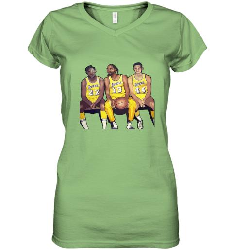 Elgin Baylor x Snoop Dogg x Jerry West Funny Women's V-Neck T-Shirt