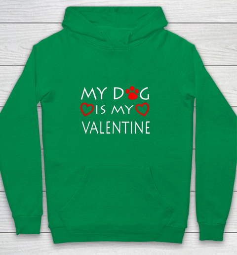 My dog Is My Valentine Shirt Paw Heart Pet Owner Gift Youth Hoodie 4