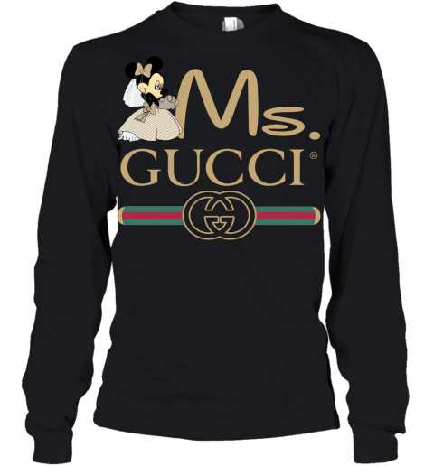 Gucci Disney Ms Minnie Couple Valentine's Day Gift Youth Long Sleeve T-Shirt