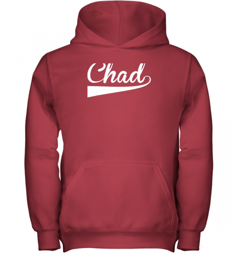 j1we chad country name baseball softball styled youth hoodie 43 front red