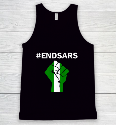 EndSARS End SARS Nigeria Flag Colors Strong Fist Protest Tank Top