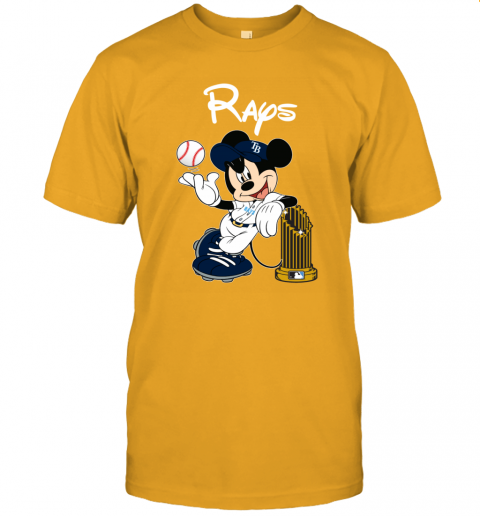 Tampa Bay Rays Mickey Taking The Trophy MLB 2019 Unisex Jersey Tee