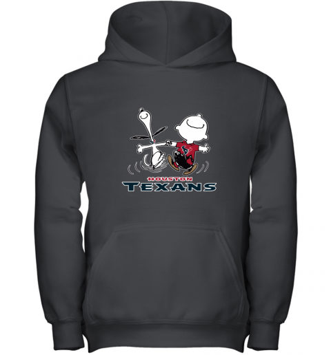 Snoopy And Charlie Brown Happy Houston Texans NFL Youth Hoodie