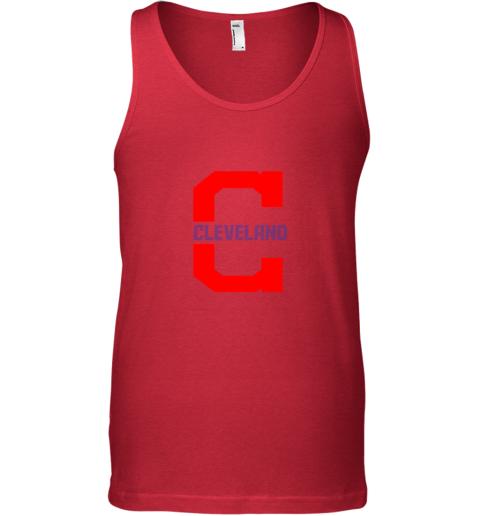 byg5 cleveland hometown indian tribe vintage for baseball unisex tank 17 front red