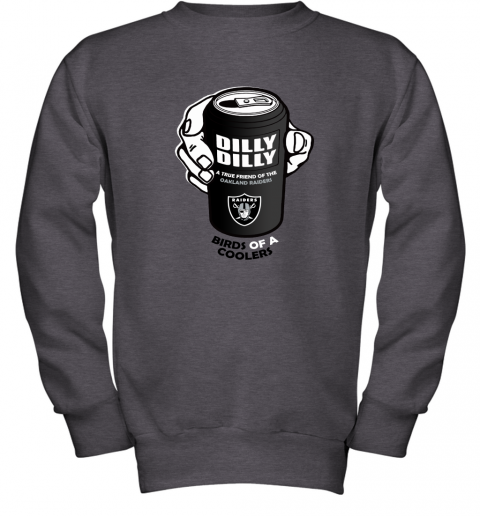 Bud Light Dilly Dilly! Oakland Raiders Birds Of A Cooler Youth Sweatshirt