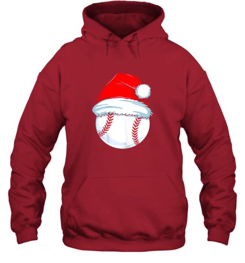 9tp2 christmas baseball shirt for kids men ball santa pajama hoodie 23 front red