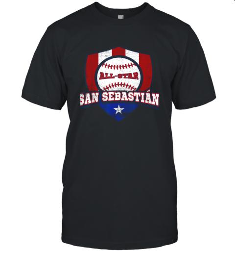 San Sebastian Puerto Rico Puerto Rican PR Baseball Unisex Jersey Tee