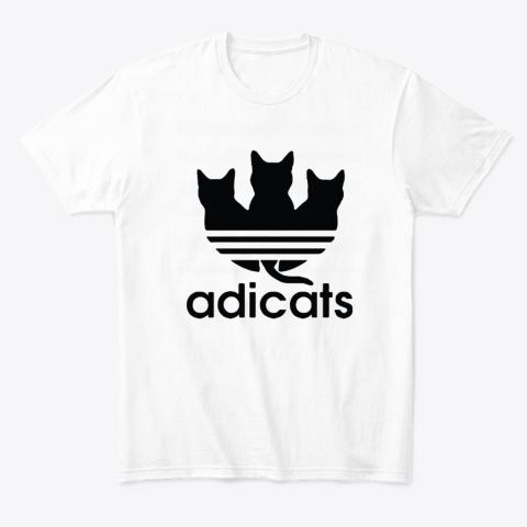 Adicats Three Black Cats Adidas Logo Mashup T-Shirt