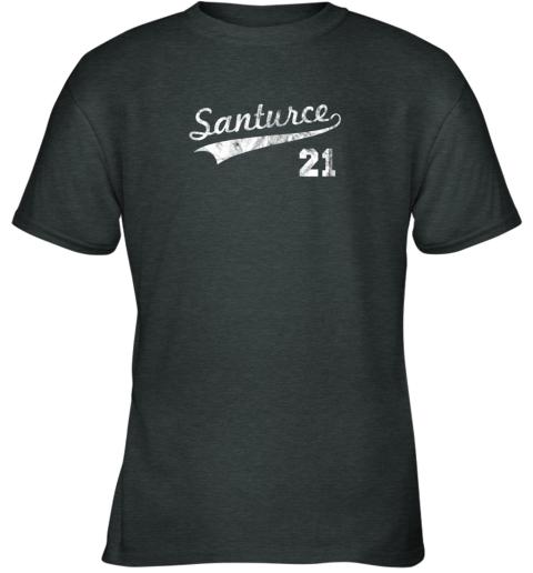 karl vintage distressed santurce 21 puerto rico baseball youth t shirt 26 front dark heather