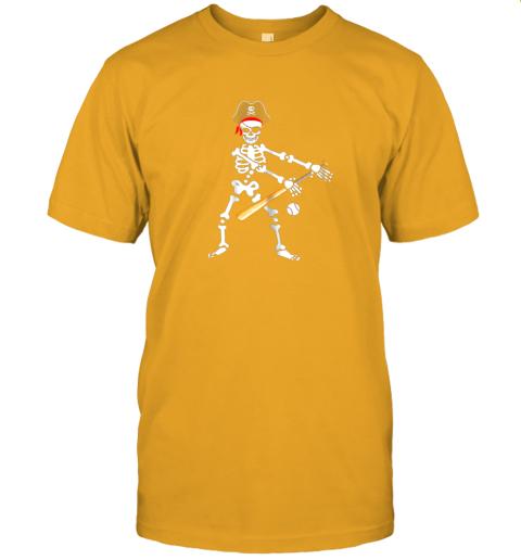 l6qs skeleton pirate floss dance with baseball shirt halloween jersey t shirt 60 front gold