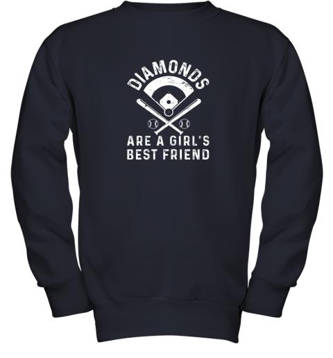 wnhk diamonds are a girl39 s best friend baseball youth sweatshirt 47 front navy
