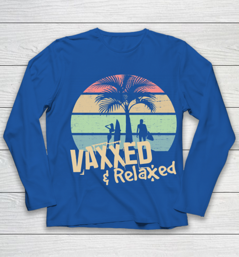 Vaxxed and Relaxed Summer Chill 2021 Youth Long Sleeve 7