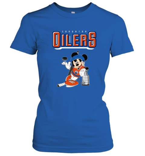swbv mickey edmonton oilers with the stanley cup hockey nhl shirt ladies t shirt 20 front royal
