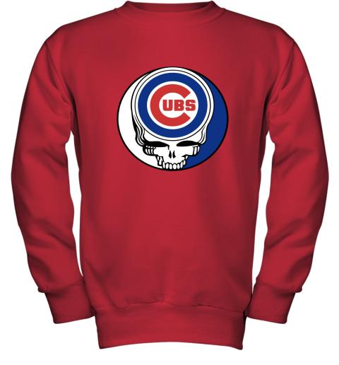 Chicago Cubs The Grateful Dead Baseball Mlb Mashup Youth Sweatshirt
