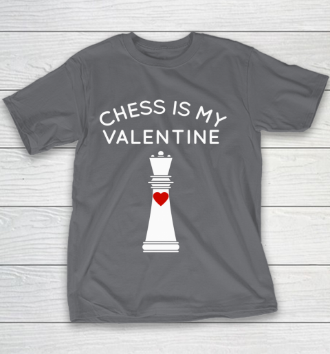 Chess Is My Valentine Youth T-Shirt 5