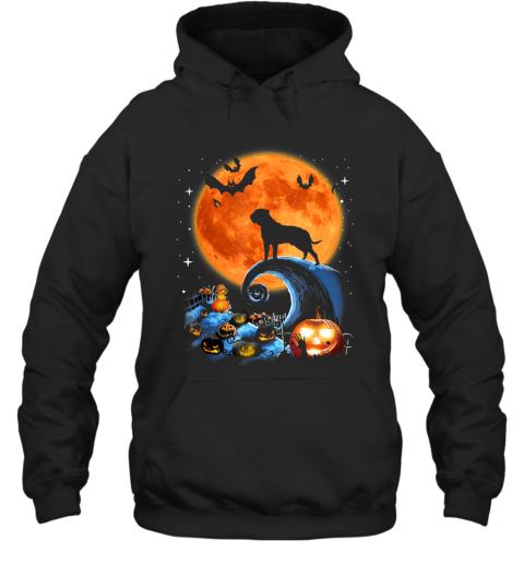 Bullmastiff Dog Moon Pumpkin Halloween Costume Gift Hoodie