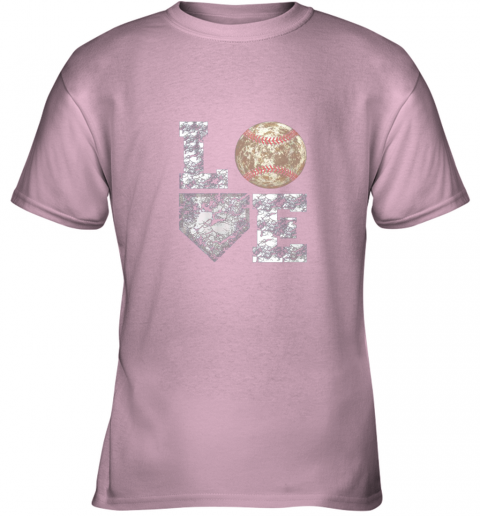 g0s0 baseball distressed ball cute dad mom love gift youth t shirt 26 front light pink