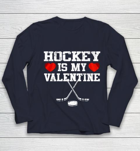 Hockey Is My Valentine Youth Long Sleeve 2