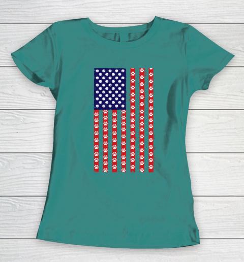 Tennis Dog Lover American Flag Women's T-Shirt 10