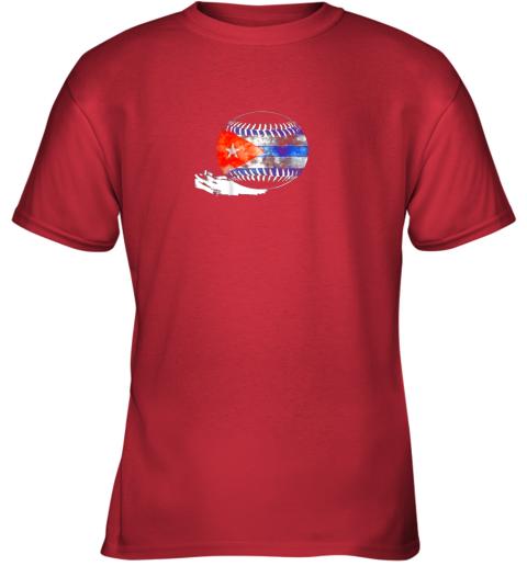 6nwl vintage baseball cuba flag shirt cuban pride youth t shirt 26 front red